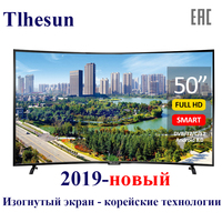 TV 50' inch Tlhesun U500SF smart TV Curved TV Digital 49 TVs smart TV Android 8.0 full HD led television dvb t2 49 50 inch tv