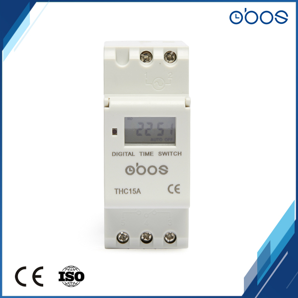 free shipping front panel din rail mounting <font><b>digital</b></font> timer switch for Street lamps, neon light, <font><b>billboard</b></font> etc image