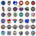 Mix 100pcs/bag color Vintage Style Random 18mm Crystal Snap Button Charm Ginger Snaps Jewelry best Christmas gifts