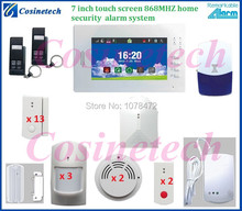 Customized APP controlled 868MHZ Smart home quad 4band GSM alarm kit security system with module for