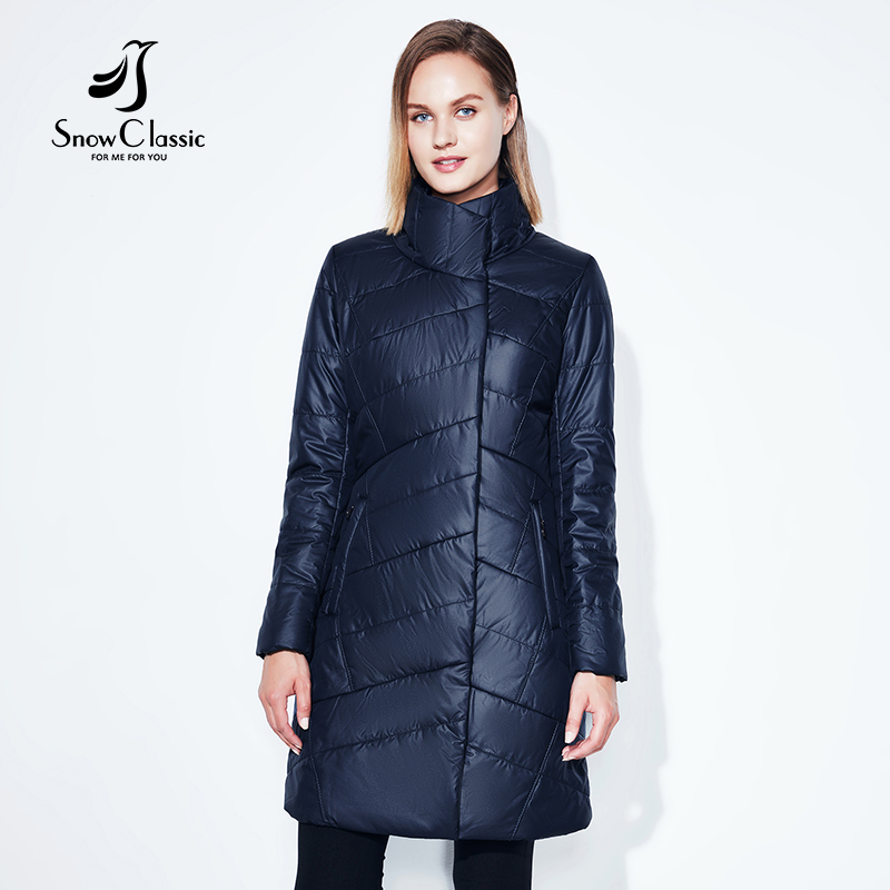 women jacket Spring slim thin coat women solid long parka warm coats outerwear zipper SnowClassic new arrival high quality 2017