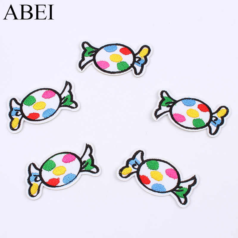 10pcs/lot Cartoon Candy Patch for Baby Girl Dress Iron On Embroidery Sticker DIY Patchwork Craft Sewing garments appliques badge