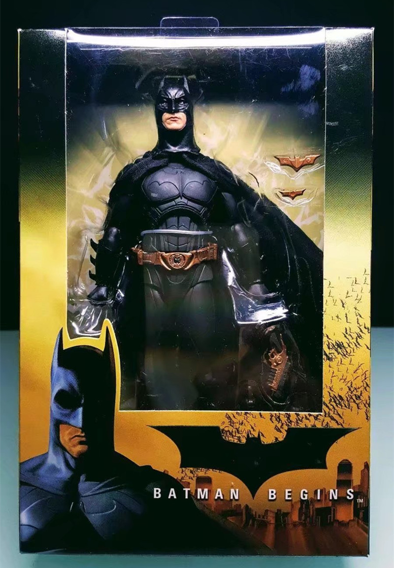 Batman Figure Batman Begins Bruce Wayne PVC Action Figures Collection Model Toy 18cm shfiguarts batman injustice ver pvc action figure collectible model toy 16cm kt1840