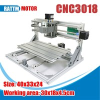 3 Axis 3018 ER11 GRBL Control DIY Mini CNC Router Laser Machine Pcb Pvc Milling Wood