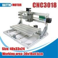 3 Axis 3018 ER11 GRBL Control DIY Mini CNC Router Laser Machine Pcb Pvc Milling Wood