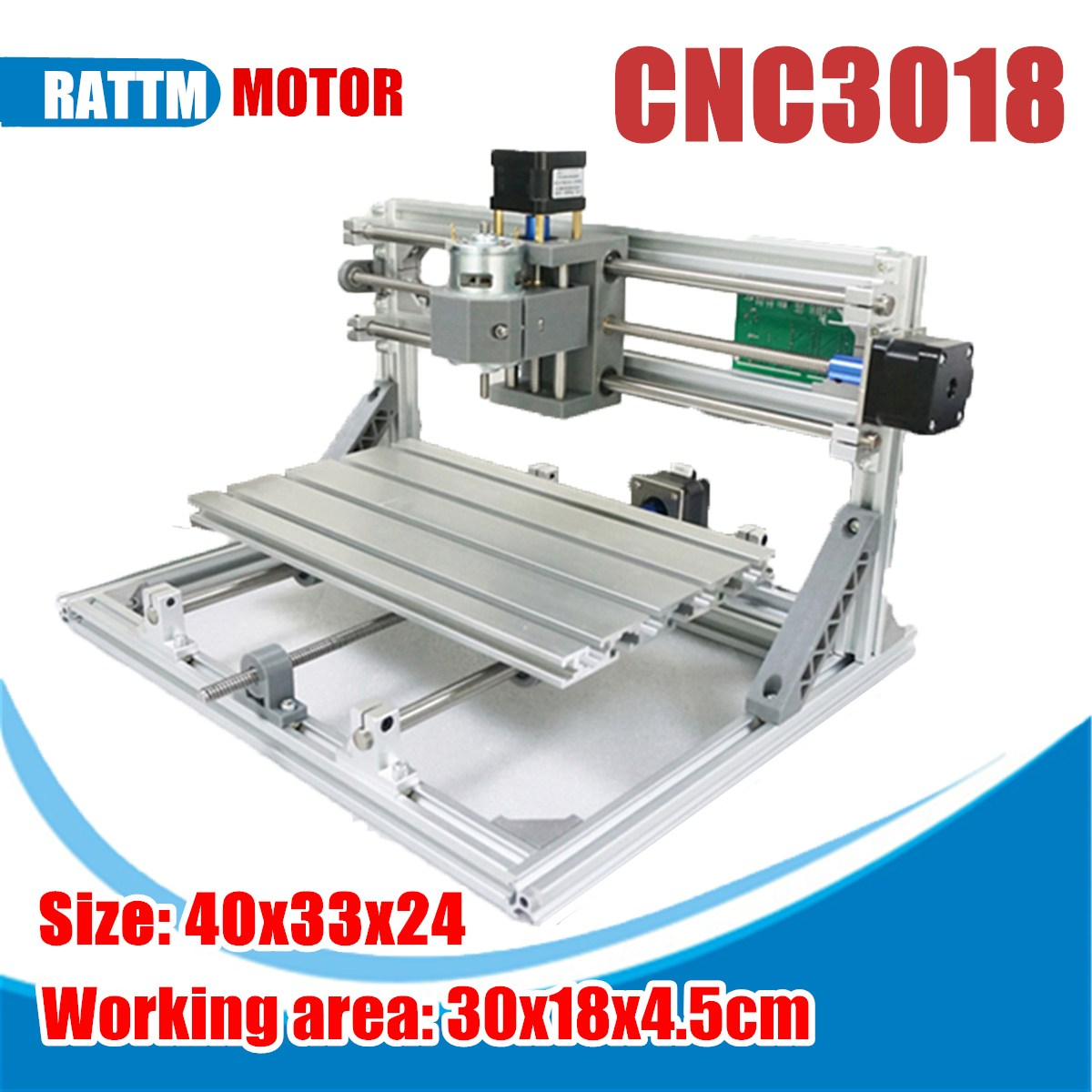 3 Axis 3018 ER11 GRBL Control DIY Mini CNC Router Laser Machine Pcb Pvc Milling Wood Router Wood Router Laser Engraving