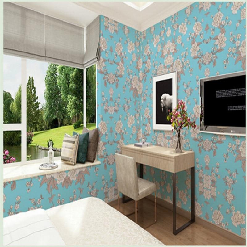 цена на New Aesthete Flowers European Modern Self Adhesive Wallpapers Mural Decal Wallpaper Art Decor roll 3D wall Mural 10 meter