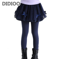 Kids Pants For Girls Spring Autumn Lace Bow Leggings Infant Solid Trousers Fall Children Pants 2