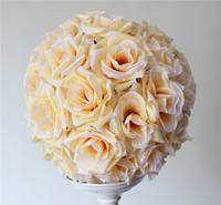 SPR 2pcs/lot 50CM Pomander rose ball EMS Free shipping bride holding wedding kissing flower ball party/home decoration flower