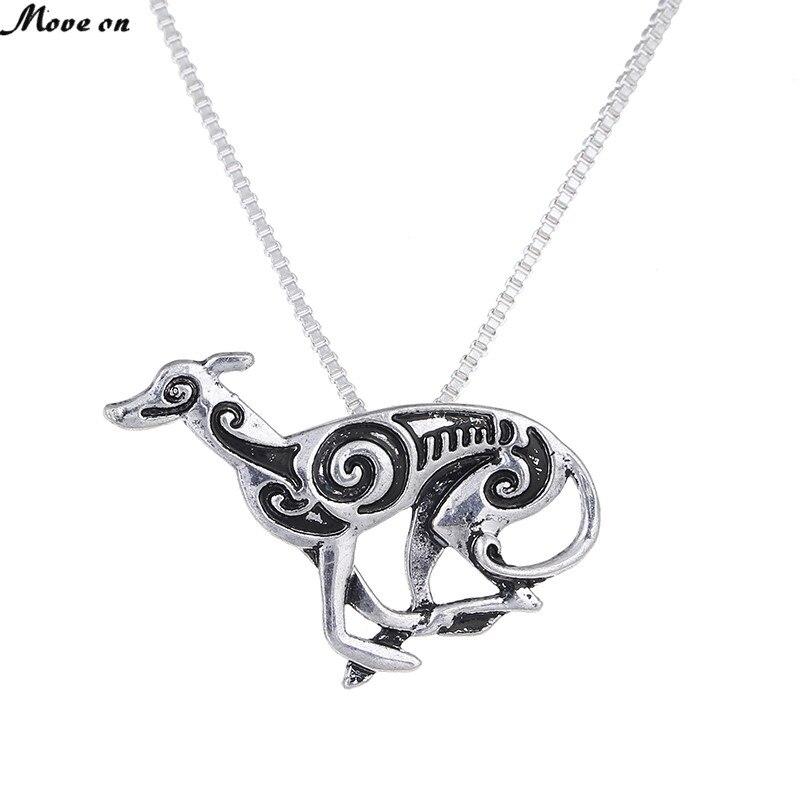 Running Greyhound Necklace Pendant Whippet Italian Sight Hound Galgo Dog Necklaces Pendants Choker Women Memorial Gift