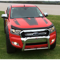 free shipping cool hood bonnet Gradient side stripe graphic Vinyl sticker for Ford ranger 2015 2016 2017sticker
