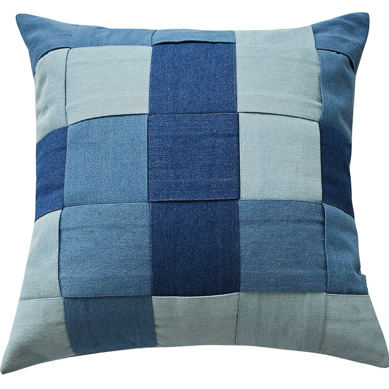 Denim Square Patchwork Cushion Cover Jeans Cushion Cover