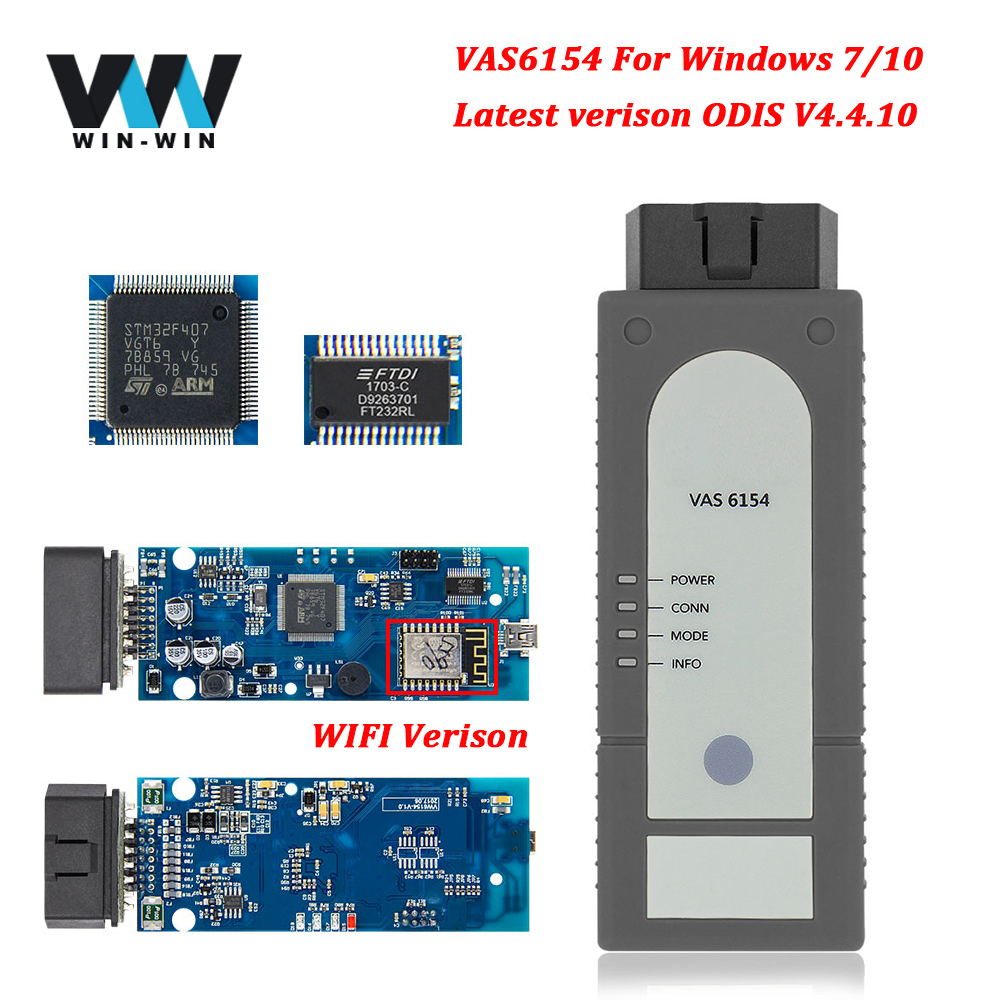 Image 1 - VAS6154 ODIS V4.4.1 OBD2 WIFI Scanner OBD OBD2 Car Diagnostic Auto Tool For VAG VAS 5054A ODIS 4.3.3 for UDS Scanner VAS 6154-in Code Readers & Scan Tools from Automobiles & Motorcycles on