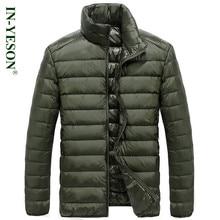 IN-YESON Brand Ultra Light Duck Down Coat Men Fashion Simple