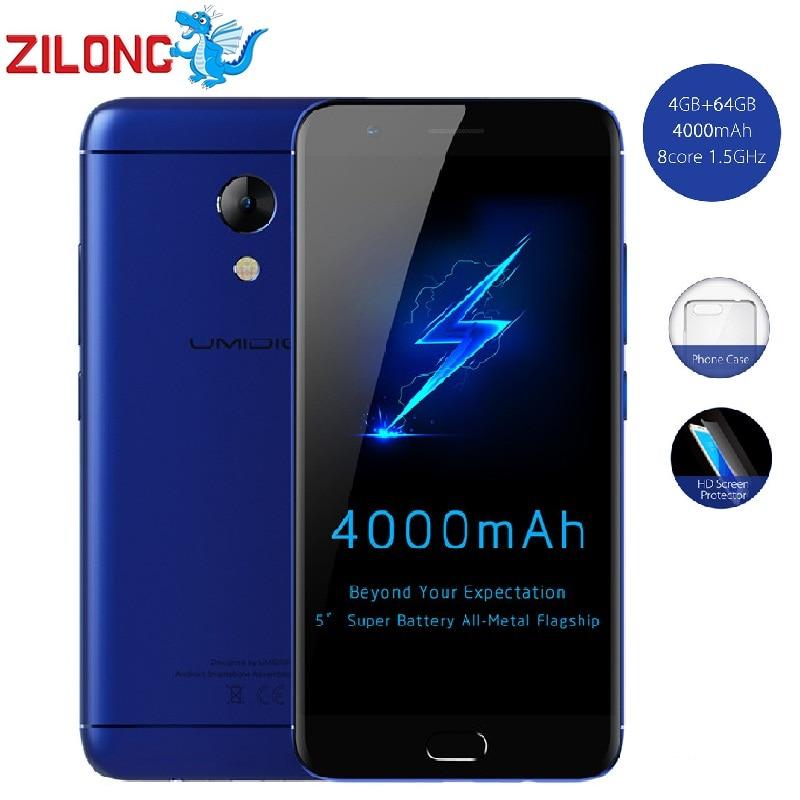 "bilder für Original Umidigi C2 Android 7.0 4G Handy 4G RAM 64 GB ROM 4000 mAh Octo Kern 5,0 ""1920x1080 13MP Fingerprint LTE Smartphone"