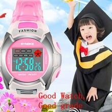 Водонепроницаемые детские цифровые светодиодные спортивные часы
