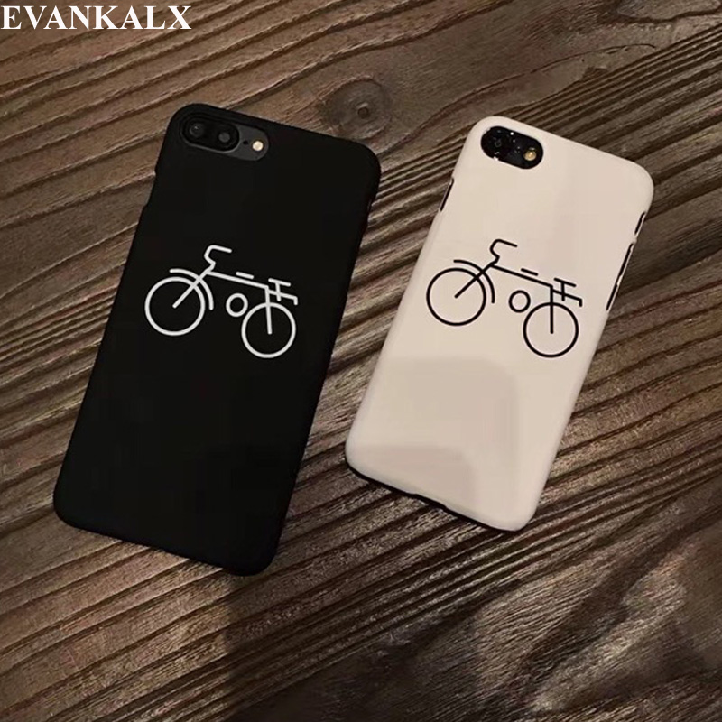 huge discount eb891 9503f US $1.79 25% OFF|EVANKALX For iPhone 5S SE Sport Bike Printed Case For  iPhone 6 6S 7 8 Smooth Skin Cover For iPhone 7 8 6s PLus Back Cover  Shell-in ...