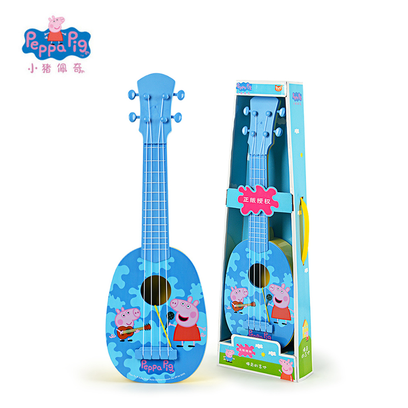 Model Building Kits Peppa George Pig 44cm/17.3 2017 New Children Musical Instruments Toy Ukulele Guitar Education Christmas New Year Gifts For Kids