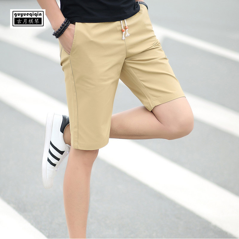 Shorts Men 2018 Summer Men Clothing Cotton Shorts Casual Beach Short Pants Breathable Shorts Male Elastic Waist Plus Size 5XL