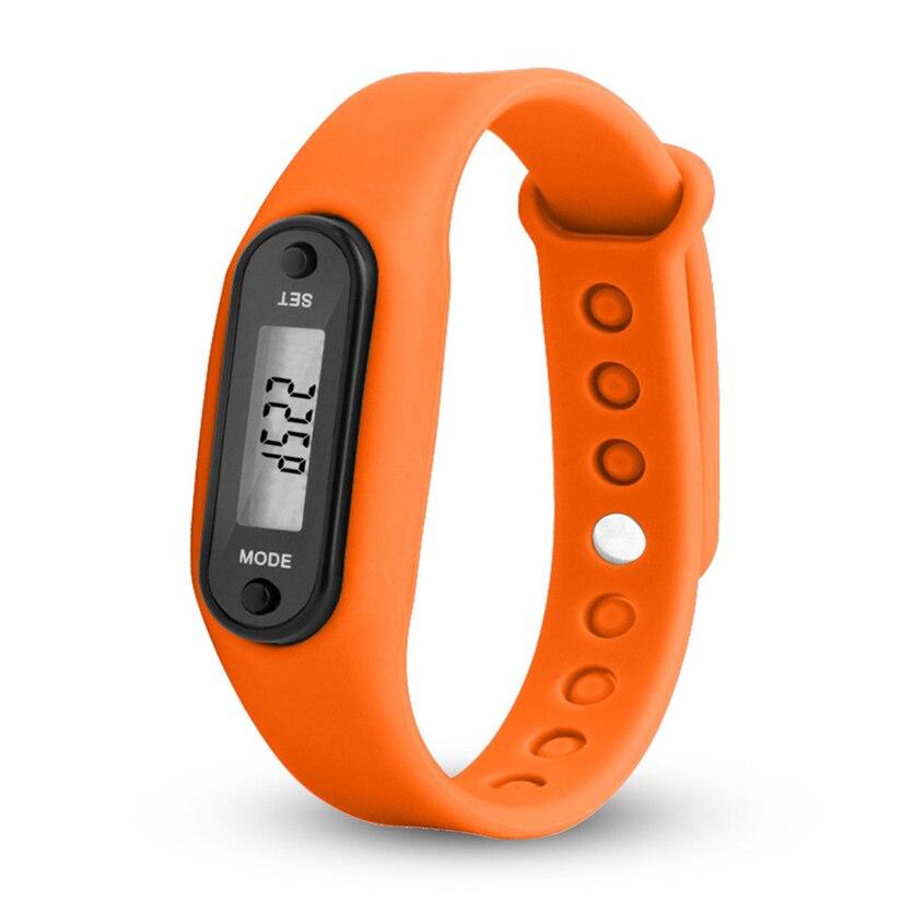 Run Step Watch Bracelet Pedometer Calorie Counter Digital LCD Walking Distance Men Women Ladie Sport Watches