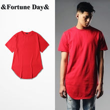 Wholesale & Retail High Street Mens Brand red T shirt Short Sleeve O-neck Men Casual Wear Tee Extended Style Oversize S-XXXL(China)