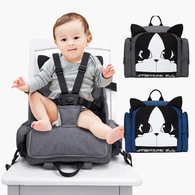 3 en 1 multifonction chaises hautes couche maman sac alimentation siège bébé à manger chaise portable chaise haute couvre pour bébé