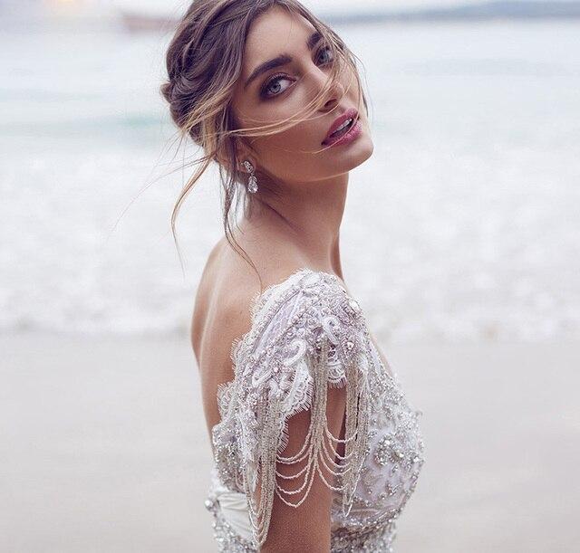 Sparkle A Line Summer Beach Wedding Dress 2016 Online Shop China ...