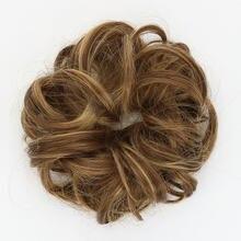 Chignon cabelo bun peças de cabelo scrunchie extensões de cabelo sintético peruca para as mulheres encaracolado chignon acessórios extensão do cabelo