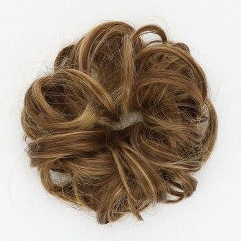 Шиньон, прическа гулька волосы, шиньоны для наращивания волос, синтетические волосы для женщин, вьющиеся шиньоны, аксессуары для наращивани...