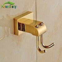 Gold Finish Bath Soild Brass Wall Mounted Towel Hook Clothe Hanger Free Shipping