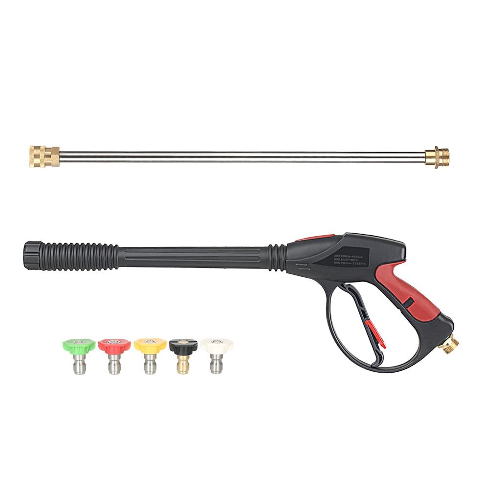 Pistolet nettoyeur haute pression 4000 PSI pistolet de pulvérisation + baguette d'extension 18