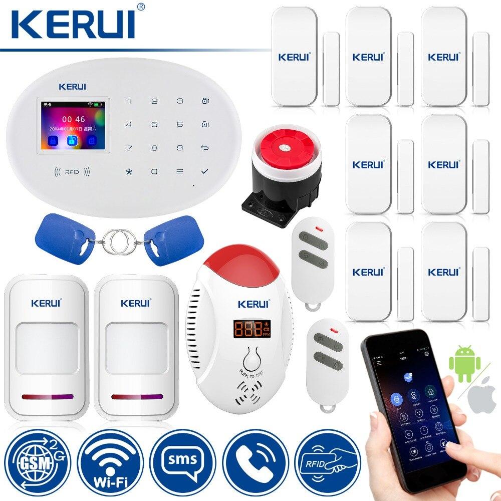 KERUI W20 Smart Home, Casa Intelligente di Allarme WIFI GSM Carta di RFID Sistema di Allarme di Sicurezza Con 2.4 di pollice TFT di Tocco del Pannello di Allarme Rilevatore di Movimento
