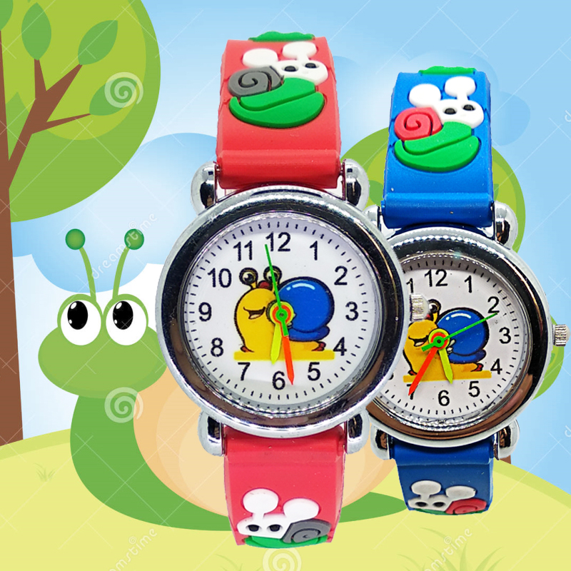 Cartoon Flower Snail Quartz Analog Girl Watches For Kids Boy Watch For Children Student Clock Fashion Child Baby Christmas Gift