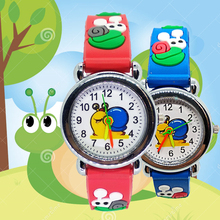 Cartoon Flower Snail Quartz Analog Girl Watches for Kids Boy
