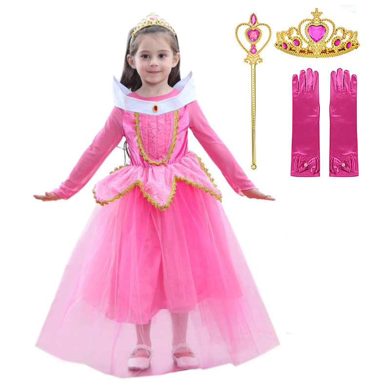 Child Girls Kids Fairy Tale Princess Dress Cosplay Party Halloween Fancy Costume