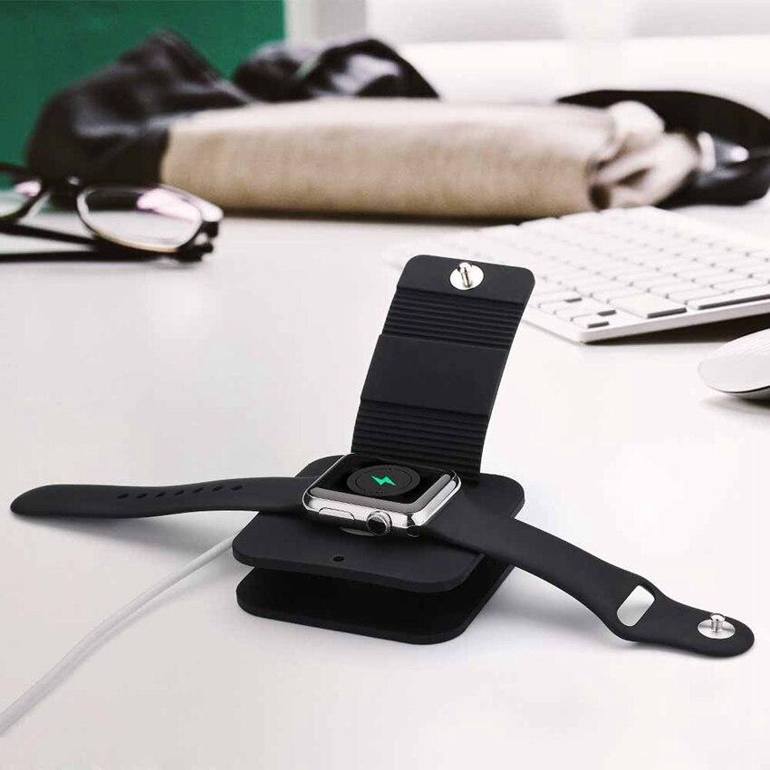Suporte de carregamento Doca de Carga Titular Carteira Terno para iWatch todos os 38mm/42mm e para A Maçã Relógio Feito de TPU Soft/Material de Silício