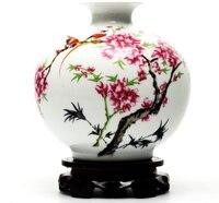 Creative Antique Small Vase Jingdezhen Ceramics Home Living Room Chinese Modern Decorative Crafts Wine Cabinet Decoration Vase 9