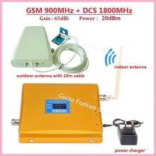 Dual Band 4 Г GSM Репитер 900 1800 Сотовый Телефон Booster Усилитель ЖК-Дисплей GSM И DCS Dual Усилитель Сигнала с ЛДПА антенна-штырь