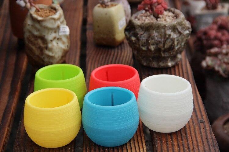 5 шт./лот 7*7 см оптовые цветочные горшки мини горшок сад ломкий Пластик Горшки для проращивания для суккулентов gyh