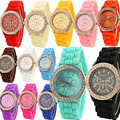 Fashion Geneva Wristwatch Vintage Golden Crystal Rhinestone Watches Silicone Strap Quartz Wrist Watch for Ladies Women