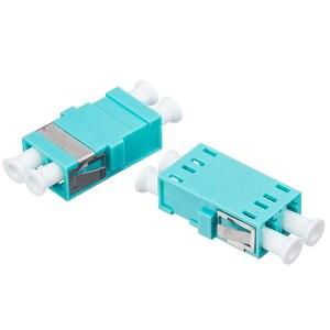 Image 5 - 50Pcs/Bag,Fiber Optic LC/UPC MM OM3 SC Type Duplex Flange Coupling Carrier Class Fiber Adapter Coupler