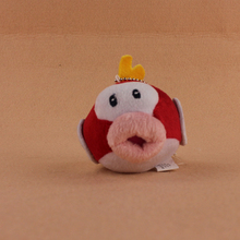 10cm Lovely Super Mario Bros Flying Fish Keychain Plush Soft Stuffed Animals Doll Toys For Kids