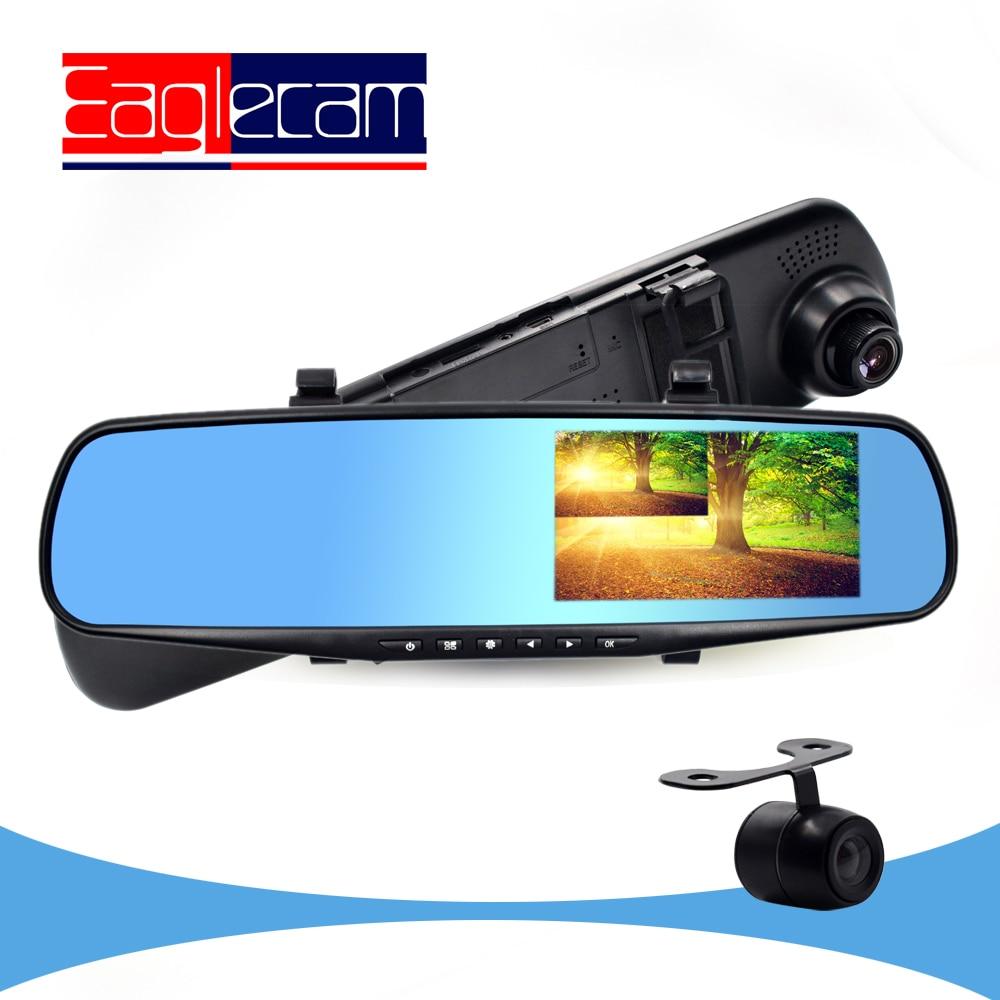 2017 Nouveau 4.3 pouce Full HD 1080 P Miroir De Voiture DVR Double lentille Caméra Pour Voiture Vue Arrière de Miroir De Voiture Caméra DVR Vidéo enregistreur