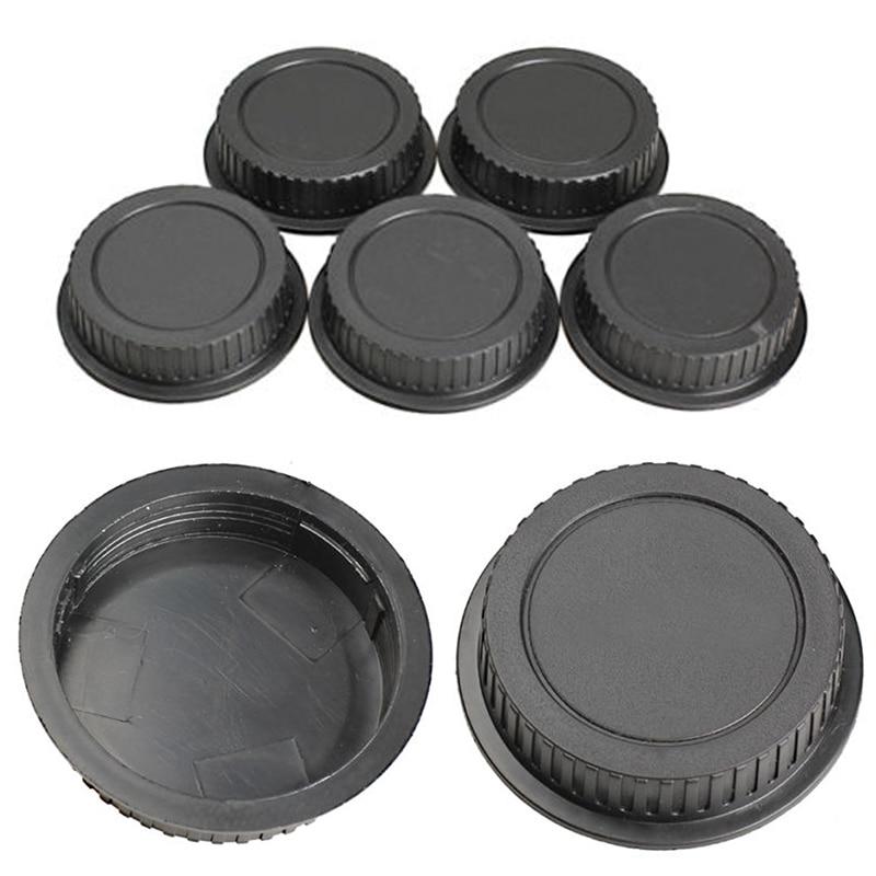 Mayitr 5pcs New Rear Lens Cover Plastic Lens Cap Dust  For Canon Camera EF ES-S EOS Series Lens Black