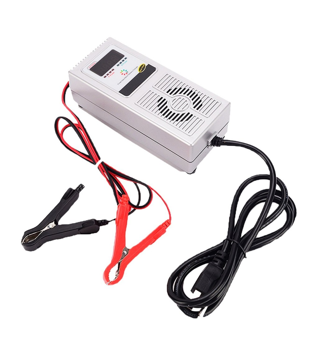Automatic 36V 3A Led Acid Deep Cycle E bike Vehicle Battery Charger Pulse Display