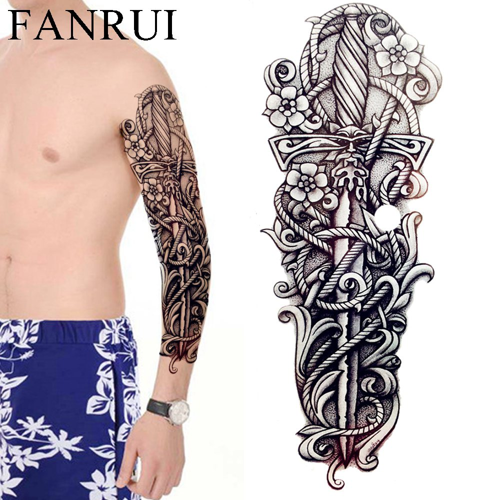 Womens Temporary Tattoos: Aliexpress.com : Buy Black Totem Men Full Arm Temporary