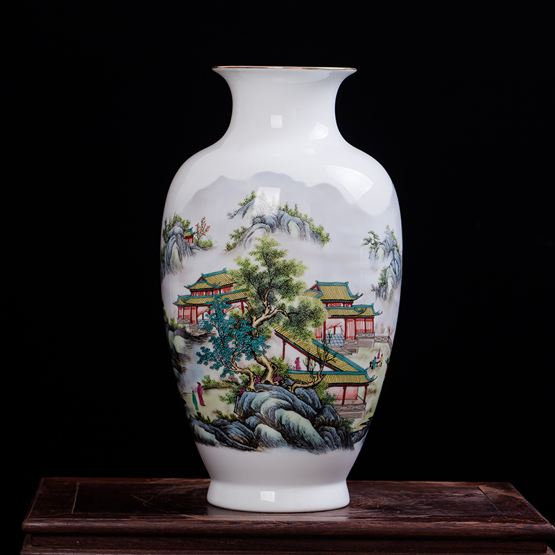 Chinese-style High Quality Ceramic Antique Flowers Pattern Vase Porcelain Vases For Artificial Flower Decoration VasesChinese-style High Quality Ceramic Antique Flowers Pattern Vase Porcelain Vases For Artificial Flower Decoration Vases