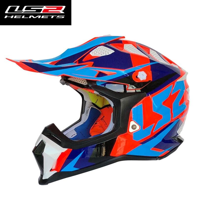 LS2 MX470 casque de Motocross original pour moto Dirt Bike vtt VTT DH MX casques hors route de haute qualité