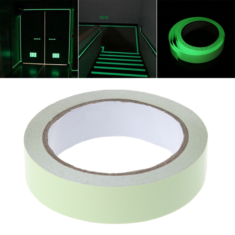 2.5CMx9M Decorative Scotch Tape Luminous Marking Tape Glow Adhesive Tape multi color 1 roll 20m marking tape 100mm adhesive tape warning marker pvc tape