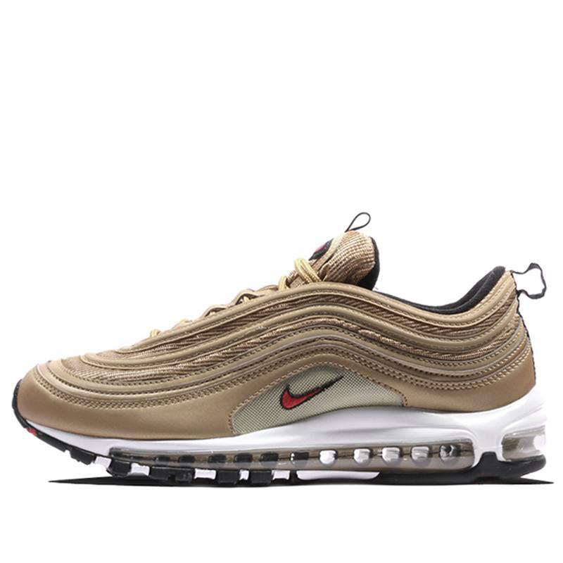 452dcfd945 Original Authentic Nike Air Max 97 OG Gold and Silver Bullet Women's  Running Shoes Sport Outdoor Sneakers Massage Jogging-in Running Shoes from  Sports ...